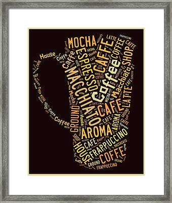 Coffee Menu Collection Framed Print