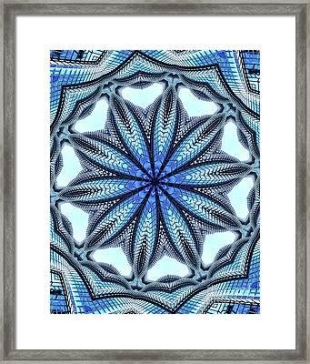 Colorful Blue Kaleidoscopic Design Framed Print by Amy Cicconi