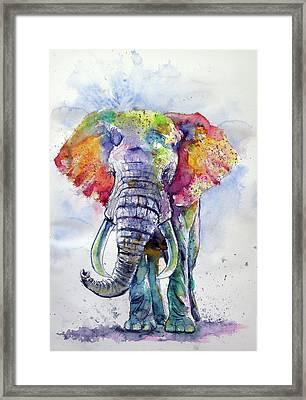 Colorful Elephant Framed Print