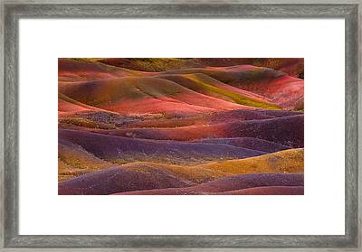 7 Colors Land Framed Print by Jean-luc Besson