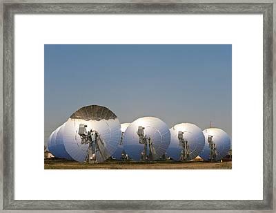Concentrating Solar Power Plant Framed Print