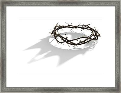 Crown Of Thorns With Royal Shadow Framed Print