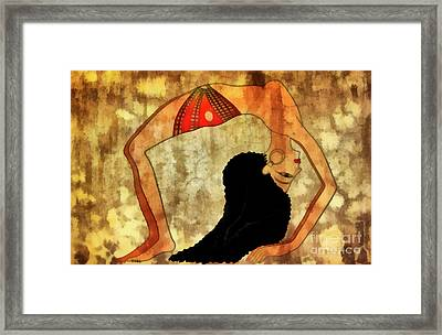 Dancer Of Ancient Egypt Framed Print by Michal Boubin