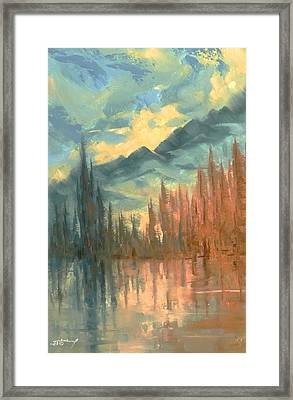 Earth Light Reflection Series Framed Print by Len Sodenkamp