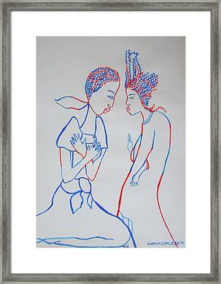 Finding Of The Lord Jesus In The Temple Framed Print by Gloria Ssali