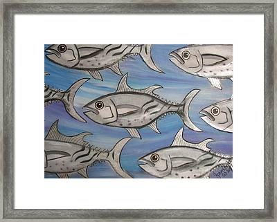 7 Fish Framed Print