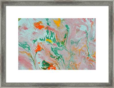 Fluid Acrylic Paint Framed Print
