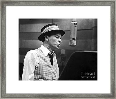 Frank Sinatra - Capitol Records Recording Studio Framed Print by The Titanic Project