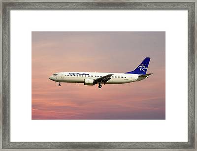 Funjet Vacations Boeing 737-400 Framed Print