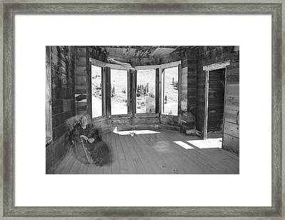 7 Ghosts At Animas Forks Framed Print by Angie Wingerd