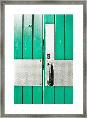Green Door Framed Print by Tom Gowanlock