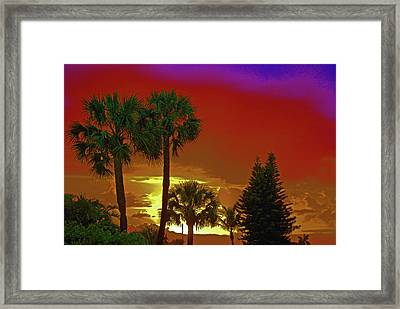 Framed Print featuring the digital art 7- Holiday by Joseph Keane