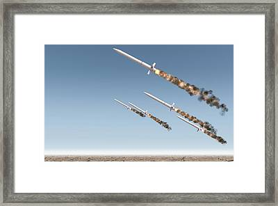 Intercontinental Ballistic Missile Framed Print by Allan Swart