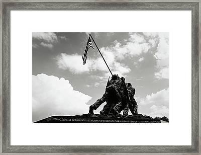 Iwo Jima Memorial Framed Print by Brandon Bourdages