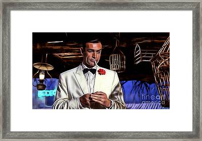 James Bond Collection Framed Print by Marvin Blaine
