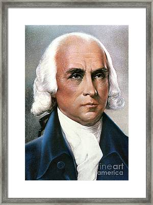 James Madison (1751-1836) Framed Print by Granger