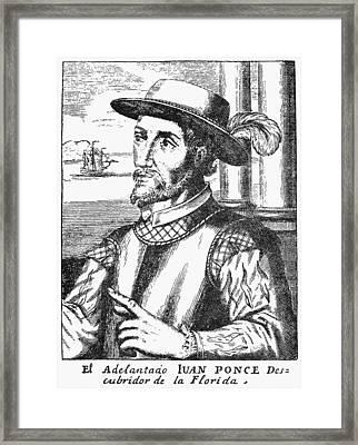 Juan Ponce De Leon Framed Print by Granger