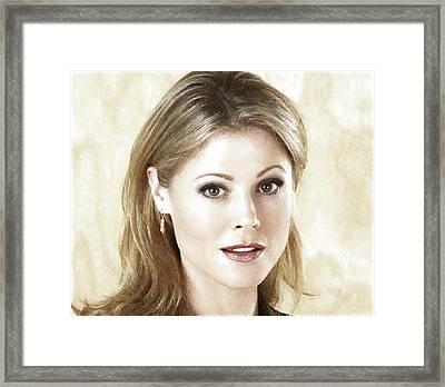 Julie Bowen Art Print Framed Print