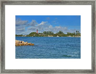 7- Jupiter Lighthouse Framed Print by Joseph Keane