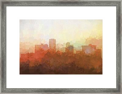 Little Rock Arkansas Skyline Framed Print by Marlene Watson