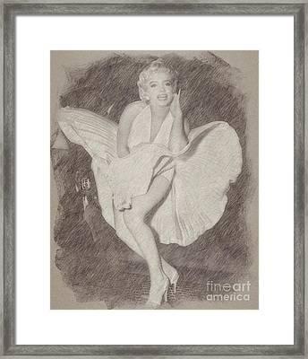 Marilyn Monroe Vintage Hollywood Actress Framed Print