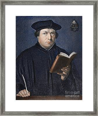 Martin Luther (1483-1546) Framed Print by Granger