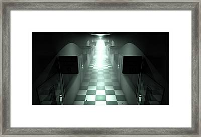 Mental Asylum Haunted Framed Print by Allan Swart