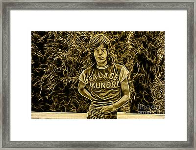 Mick Jagger Collection Framed Print