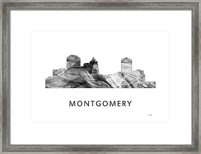 Montgomery Alabama Skyline Framed Print
