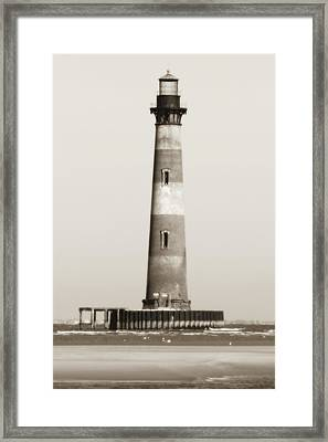 Morris Island Lighthouse  Framed Print by Dustin K Ryan