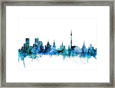 Moscow Russia Skyline Framed Print