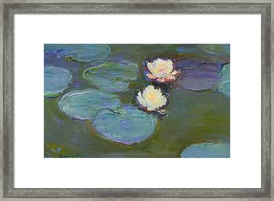 Nympheas Framed Print by Claude Monet