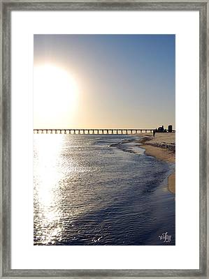 Pensacola Beach Framed Print by Thea Wolff