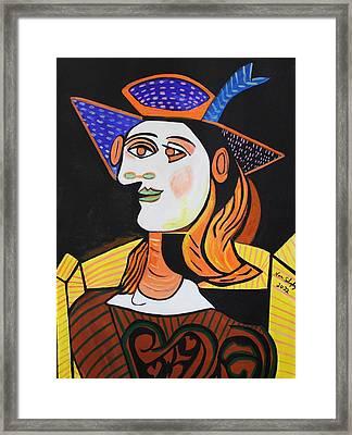 Hair Net  Picasso Framed Print