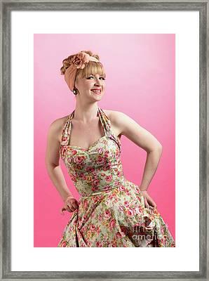 Pin Up Framed Print by Amanda Elwell