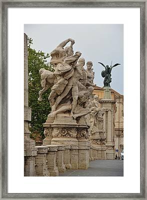 Ponte Vittorio Emanuele II Sculpture Framed Print by JAMART Photography