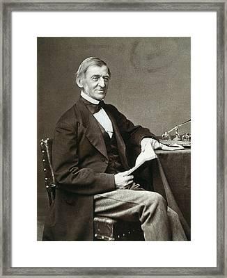Ralph Waldo Emerson Framed Print by Granger