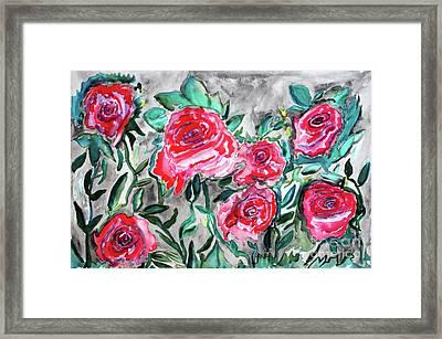 7 Roses Framed Print