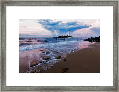 Saint Mary's Lighthouse At Whitley Bay Framed Print
