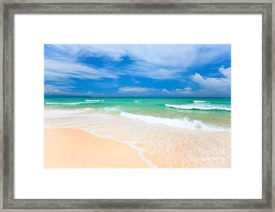 Sandy Beach Framed Print by MotHaiBaPhoto Prints