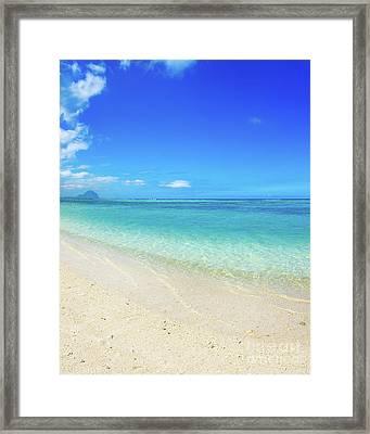 Sandy Tropical Beach.  Framed Print