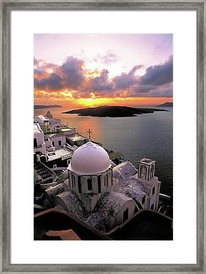 Santorini  Framed Print by Manolis Tsantakis
