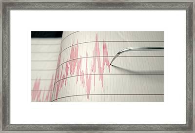 Seismograph Earthquake Activity Framed Print