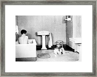 Silent Still: Bathing Framed Print by Granger