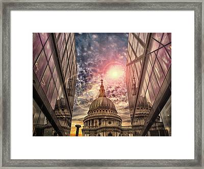 St Pauls Cathedral Framed Print by Martin Newman