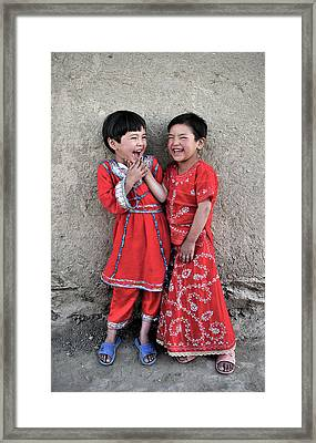 Street Of Kabul Framed Print by Olivier Blaise