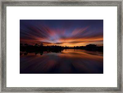 Sunrise At Naples, Florida Framed Print by Peter Lakomy