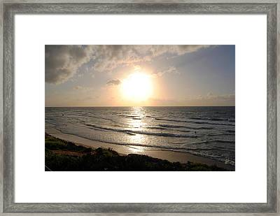 Sunset At Jaffa Beach 10 Framed Print by Isam Awad