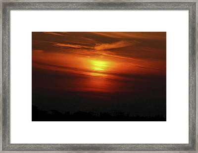 Framed Print featuring the photograph 7- Sunset by Joseph Keane