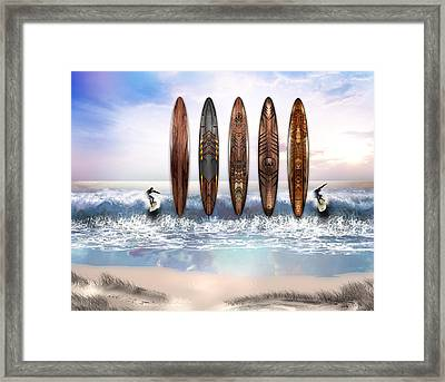 Surfing Art Framed Print by Vjkelly Artwork